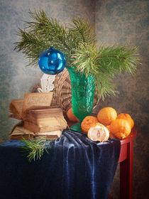 Weihnachten Blaue Kugel von Nikolay Panov