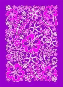 Hibiscus Pink and Purple Pattern  by bluedarkart-lem