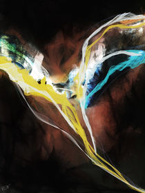 Angel painting abstract - Engel abstrakt II von Chris Berger