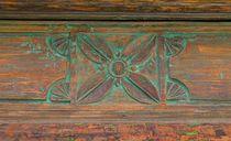 Quadratur der Kreise  |  Plant meets Wood  |  Ornamento floral de Madera
