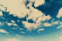 White Soft Clouds On Blue Turquoise Sky by Radu Bercan