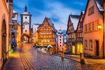 Night in Rothenburg ob der Tauber von Michael Abid