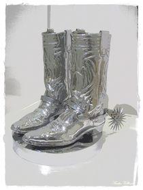 Silver Cowboy Boots by Sandra Vollmann