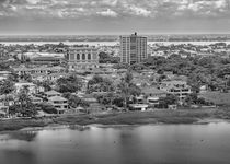 Guayaquil Aerial View from Window Plane by Daniel Ferreira Leites Ciccarino
