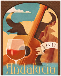 Andalucia Travel Poster by Benjamin Bay