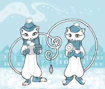 Christmas Cats by Nadine Konrad