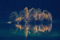 [:] Island of light at lake Eibsee, Zugspitze [:] by Franz Sußbauer
