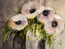 Purple poppy in vase - Lila Mohn in Vase  von Chris Berger