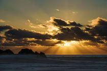Sonnenuntergang mit Dünen auf der Insel Amrum by Rico Ködder