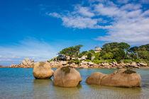 Rosa Granitküste in der Bretagne bei Ploumanach by Rico Ködder