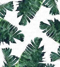Banana Leaf Watercolor by Uma Gokhale