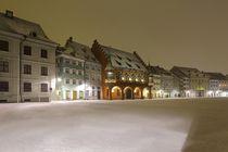 Münsterplatz Freiburg im tiefen Winter by Patrick Lohmüller