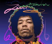 Jimi Hendrix by zelko radic