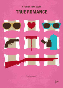No736 My True Romance minimal movie poster by chungkong