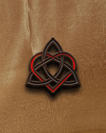 Celtic Knotwork Valentine Heart Wood Texture 3 von Brian Carson