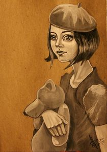 the girl with the bear by Anastasia Glebova