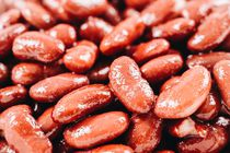 Pile Of Canned Red Kidney Beans by Radu Bercan