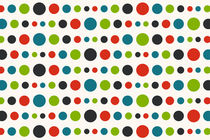 Retro Colored Circles Pattern von Radu Bercan