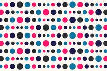Retro Colored Circles Pattern by Radu Bercan