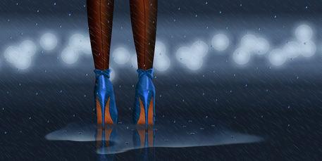 High-heels-regen-blau-1-2