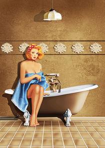 Badezimmer Nostalgie von Monika Juengling
