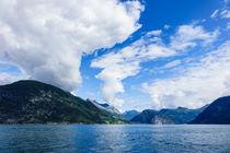 Blick auf den Storfjord in Norwegen by Rico Ködder
