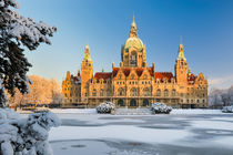 City Hall of Hannover in winter von Michael Abid