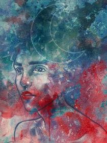 Moon goddess portrait by Damir Martic