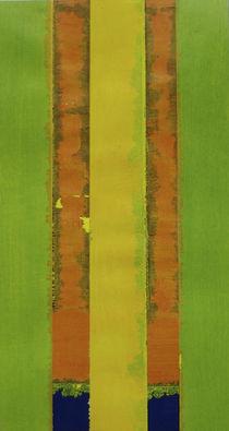 Collage GruenOrange by Marion Elsa Weigeldt