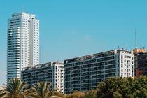 Valencia City Skyline Buildings In Summer by Radu Bercan