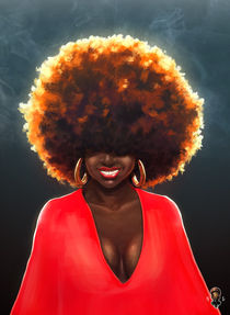 Afro and Happy by Daniel Minlo