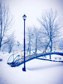Winter Bridge by GabeZ Art
