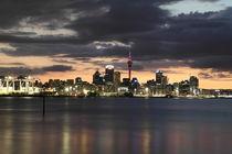 Skyline of Auckland by night von stephiii