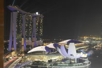 Lasershow at the Marina Bay Sand Hotel in Singapore by night by stephiii