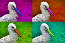 Pop Art Storch by kattobello