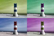 Pop Art Leuchtturm auf Helgoland-Düne von kattobello