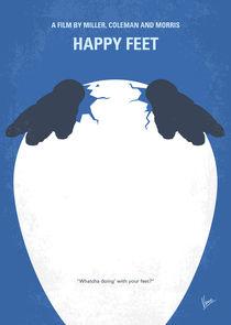 No744 My Happy Feet minimal movie poster von chungkong