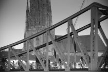 Eiserner Steg und Dom Frankfurt  by Bastian  Kienitz