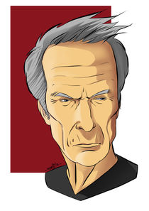 Caricature of Clint Eastwood von Juan Paolo Novelli