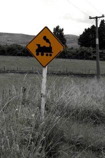 Railway sign in New Zealand von stephiii