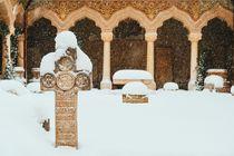 Stavropoleos Monastery In Bucharest During Winter Snow Storm von Radu Bercan
