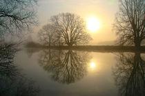 Sonnenaufgang in winterlicher Landschaft von Bernhard Kaiser