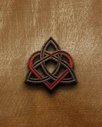 Celtic Knotwork Valentine Heart Wood Texture 2 von Brian Carson