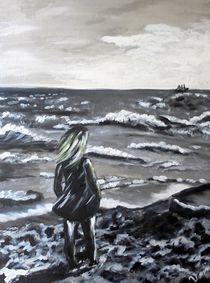 Girl on the beach von Vera Markgraf