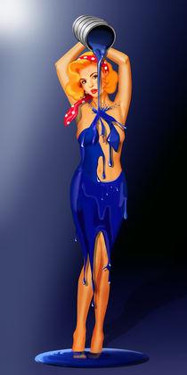 Ich male mir ein Kleid - Bodypainting von Monika Juengling