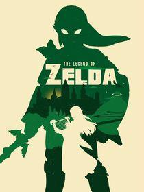 The Legend of Zelda minimalist poster art by Goldenplanet Prints