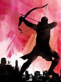 Hawkeye the avengers movie inspired art print von Goldenplanet Prints