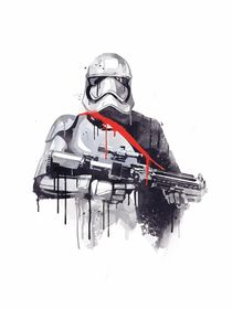 Phasma watercolor style art print by Goldenplanet Prints