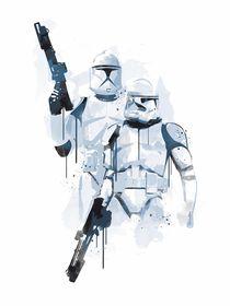 Stormtroopers watercolor style art print von Goldenplanet Prints