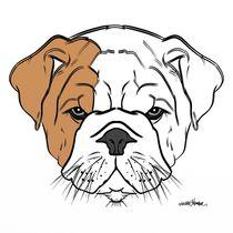 British Bulldog Puppy Design by Vincent J. Newman